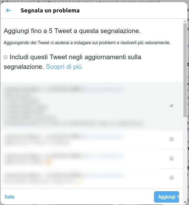 terzo step per segnalare un Hate Speech su Twitter